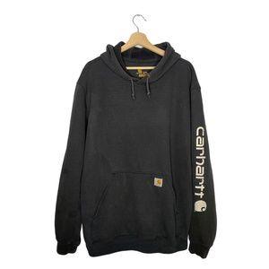 Vintage Carhartt Hoodie Sweatshirt Workwear Faded